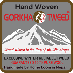 Gorkha GNW Tweed, Exclusive Winter Reliable Tweed, Hand Made by Hand Loom in Nepal