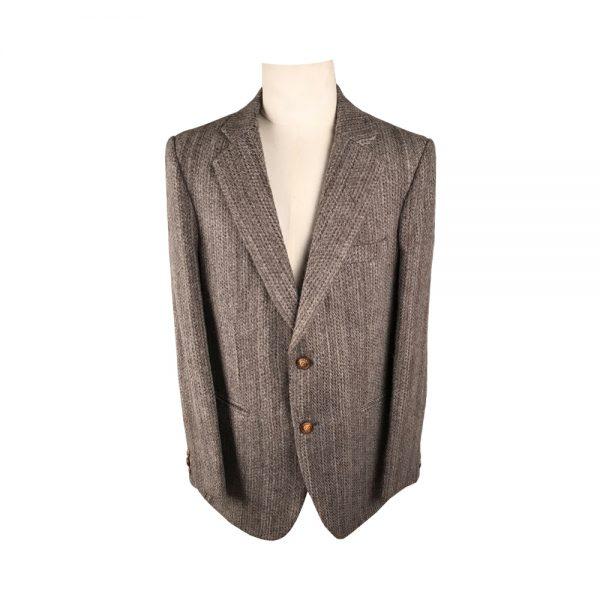 Men's Coat – Natural Woven Felted