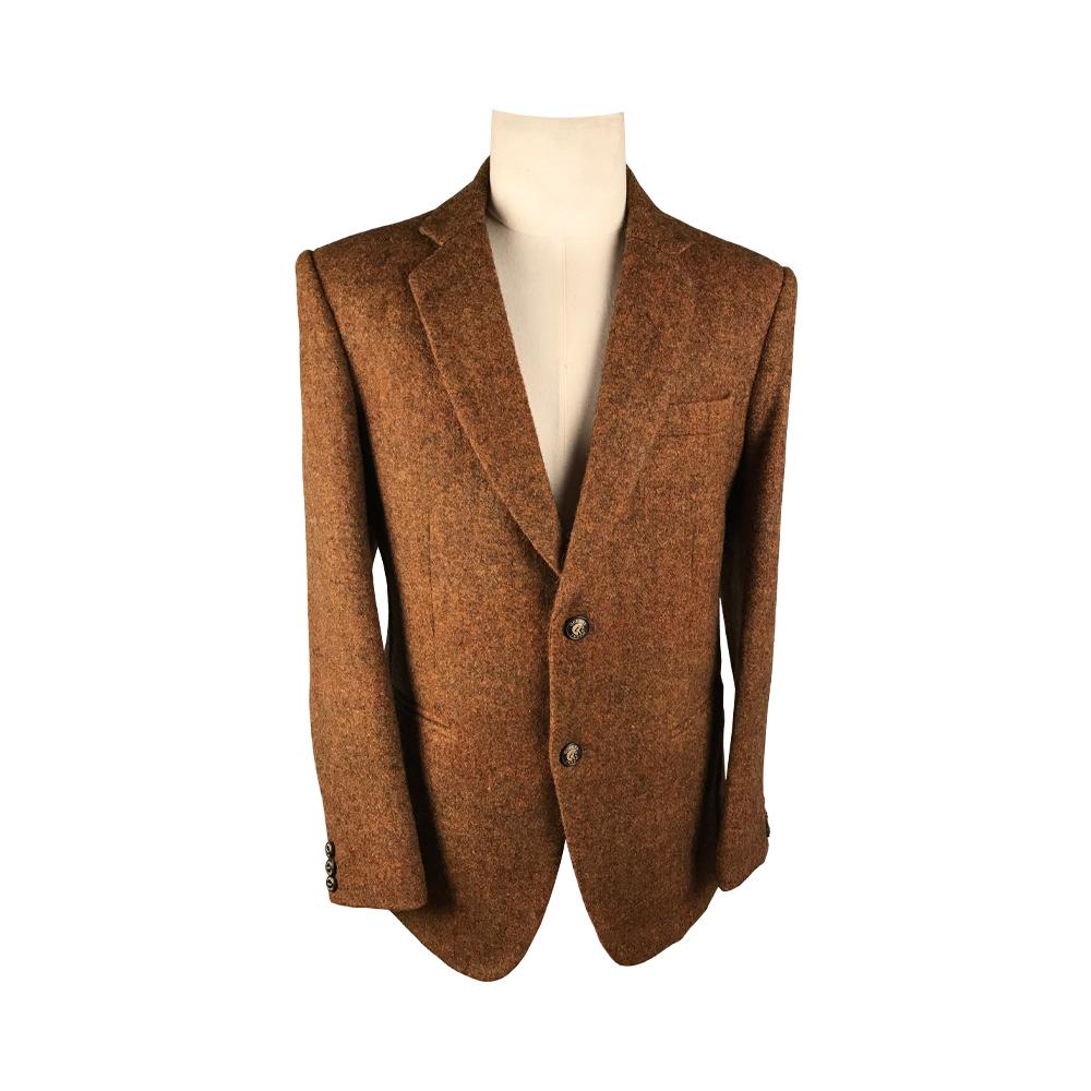 Men's Coat – Color Woven Felted